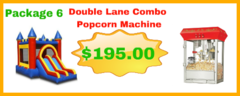 Double Lane Combo Dry 13x23 + Popcorn Machine